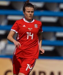 MARBELLA, SPAIN - Tuesday, March 5, 2019: Wales' Hayley Ladd during an international friendly match between Wales and Republic of Ireland at the Estadio Municipal de Marbella. (Pic by David Rawcliffe/Propaganda)